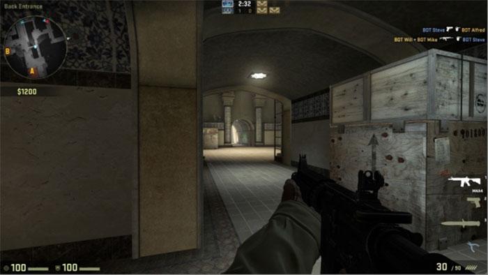 How to Peek in Counter-Strike: Global Offensive Peek Hallway 1