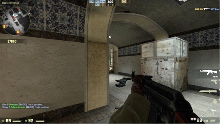 How to Peek in Counter-Strike: Global Offensive Peek Hallway 2