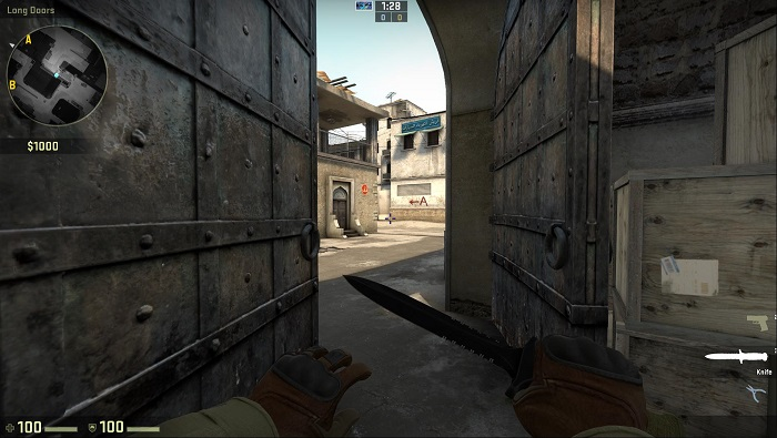 A Look at the Map de_dust2 in CSGO Access Point A
