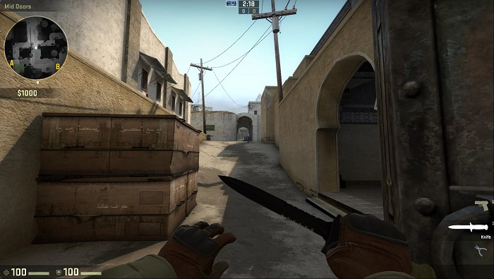 A Look at the Map de_dust2 in CSGO Access Point B