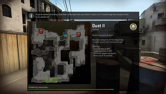 A Look at the Map de_dust2 in CSGO Main