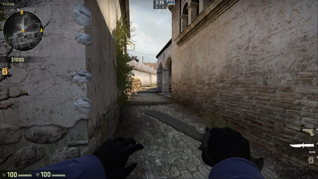 Map de_inferno Access Point A