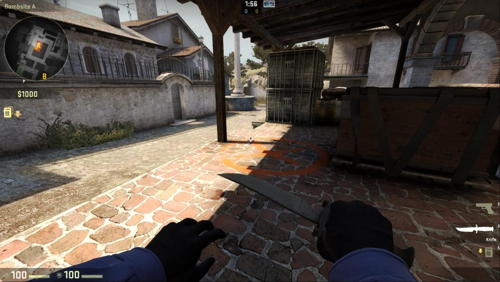 Map de_inferno Bombsite A