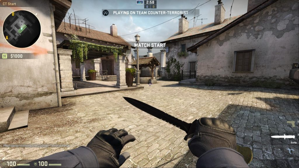 Map de_inferno Counter-Terrorist Spawn